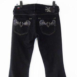 Diesel louvley black leather pockets 27x34